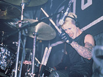 drummer James O'Connor of Godhead