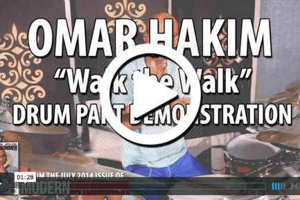 "Omar Hakim Video ""Walk the Walk"" Drum Part Demonstration"