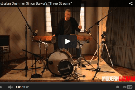 "Australian Drummer Simon Barker's ""Three Streams"""