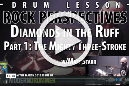 Rock Perspectives: The Mighty Three-Stroke Ruff (VIDEO)