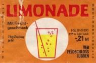 Limondade mit Fruchtgeschmack, VEB Feldschloss Lubben (Bild: historisches Etikett)