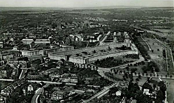 Frankfurt, Siedlung Bornheimer Hang (Bild: historische Postkarte, um 1935)