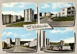 Neunkirchen-Wellesweiler, Cité Winterfloß (Bild: historische Postkarte)