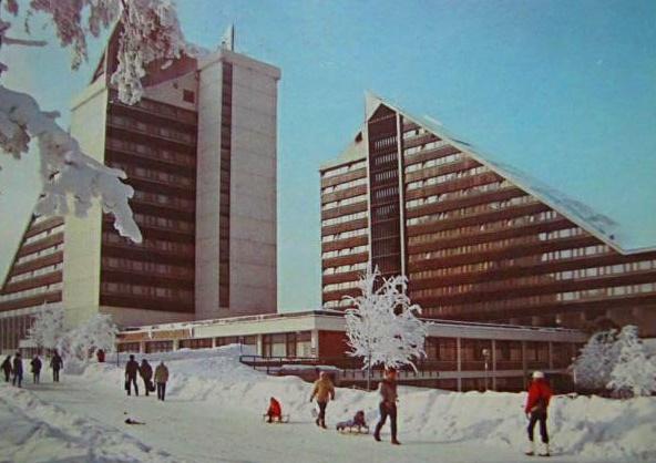 Oberhof, Hotel Panorama (Bild: historische Postkarte, Auslese-Verlag, Bald Salzungen)