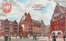 Otto Sturm, Entwurf, Baugruppe am Domplatz Frankfurt, Wettbewerb, 1903 (Bild: © Fassaden für Frankfurt am Main, 1903)