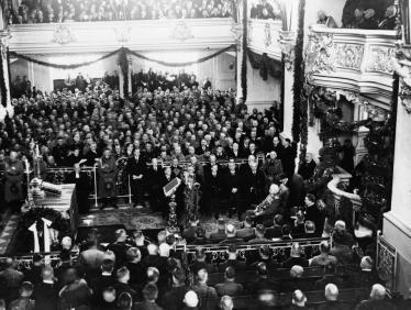 """Potsdam, Garnisonkirche, """"Tag von Potsdam"""" am 21. März 1933 (Bild: PD)"""