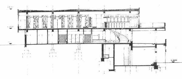 """Potsdam, Restaurant """"Minsk"""" (Bildquelle: Architektur der DDR 28, 1979, 1, S. 623)"""