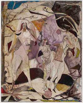 new German painters: Volker Hueller