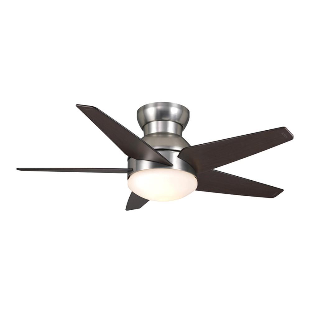 medium resolution of 44 isotope ceiling fan flush mount casablanca fan 59351 brushed nickel