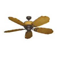 Bamboo Ceiling Fan for Damp Location Outdoor Use - Gulf ...
