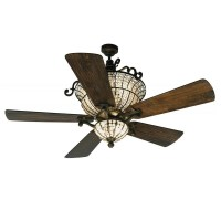 "56"" Craftmade Cortana CR52PR Ceiling Fan - DC Motor w ..."