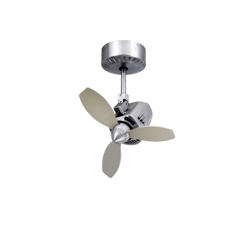 TroposAir Mustang Oscillating Ceiling Fan Brushed