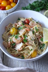 Creamy White Wine Shrimp Scampi