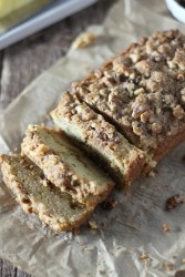 Zucchini coffee cake bread with cinnamon streusel