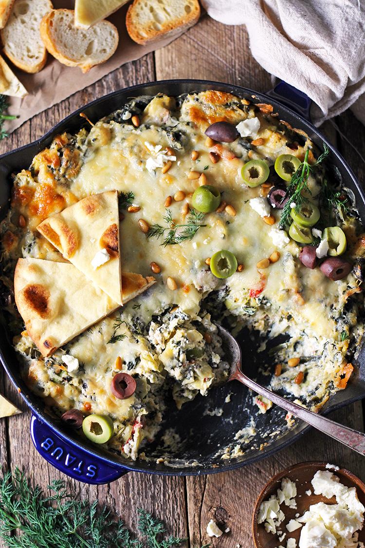 Mediterranean Spinach Artichoke Dip