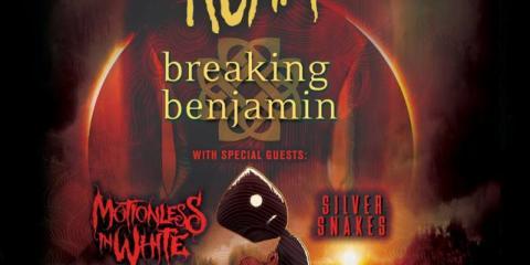 korn breaking benjamin motionless in white silver snakes us tour 2016