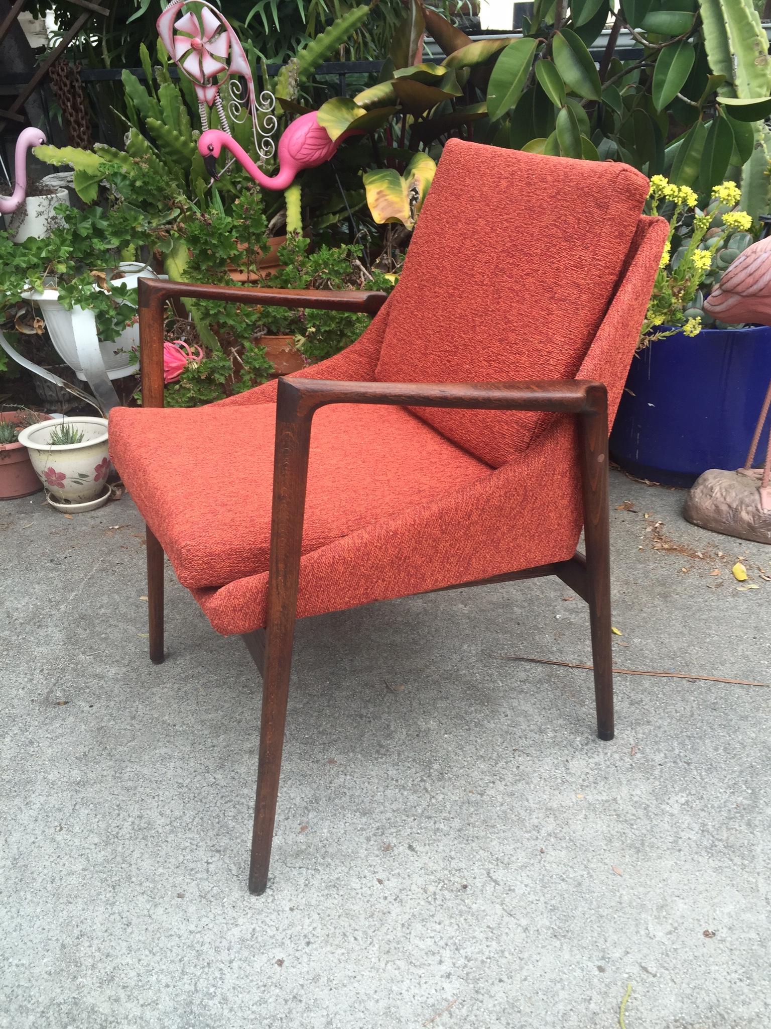 Kofed Larsen for Selig Rosewood Elizabeth Chair  Modern