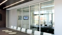 Office Front Glass Walls - Framed Fixed Glass