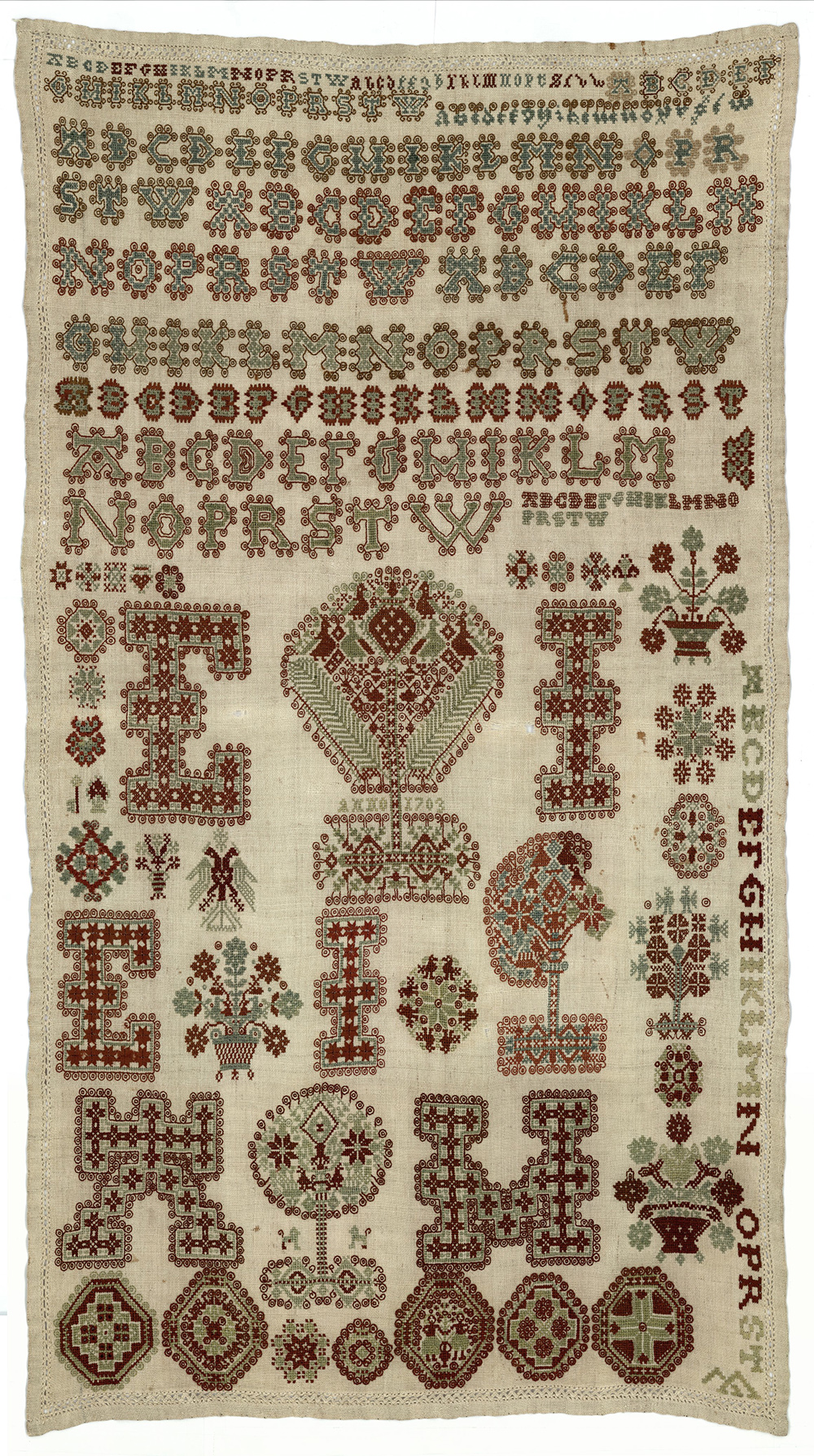 Frisian Embroidery Sampler, early 18th century