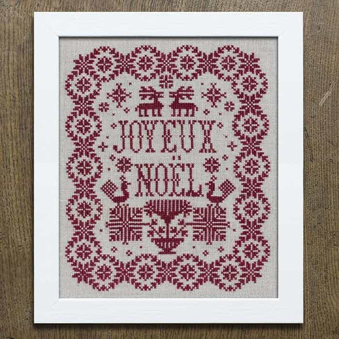 Joyeux Noël - Christmas Sampler Cross Stitch Embroidery Pattern PDF