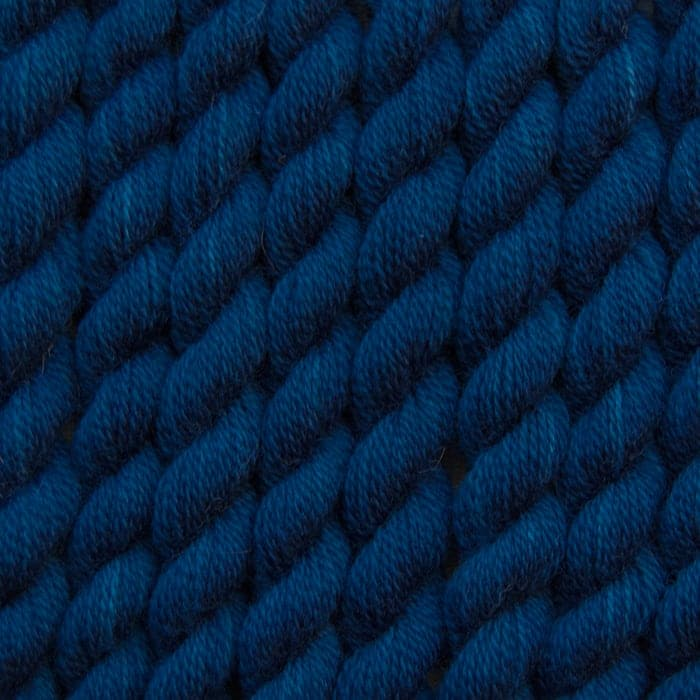 deep indigo hand dyed embroidery wool