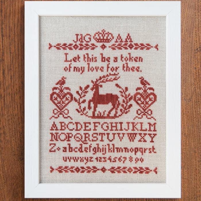 A Token of Love - Alphabet Sampler Cross Stitch Pattern
