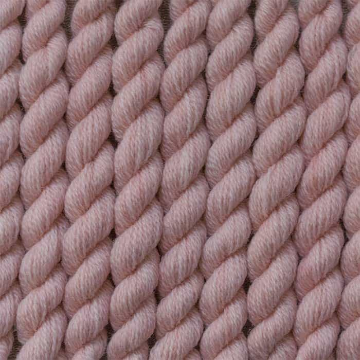 light antique rose - hand dyed wool embroidery threads