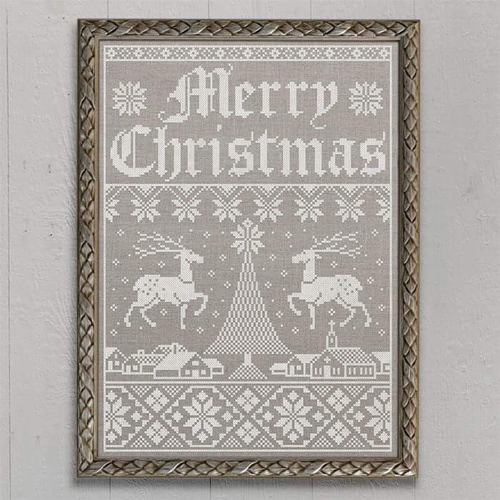 Christmas Town: A Holiday Sampler - Original cross-stitch embroidery pattern by Modern Folk Embroidery, PDF booklet