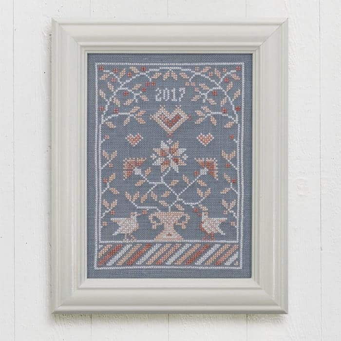 Under The Bower - Counted Cross Stitch Embroidery Pattern by Modern Folk Embroidery