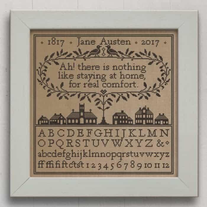 Real Comfort: A Jane Austen Sampler. Original Cross-Stitch Chart by Modern Folk Embroidery