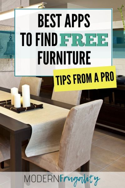 13 Easy Apps to Find Free Furniture! - Modern Frugality