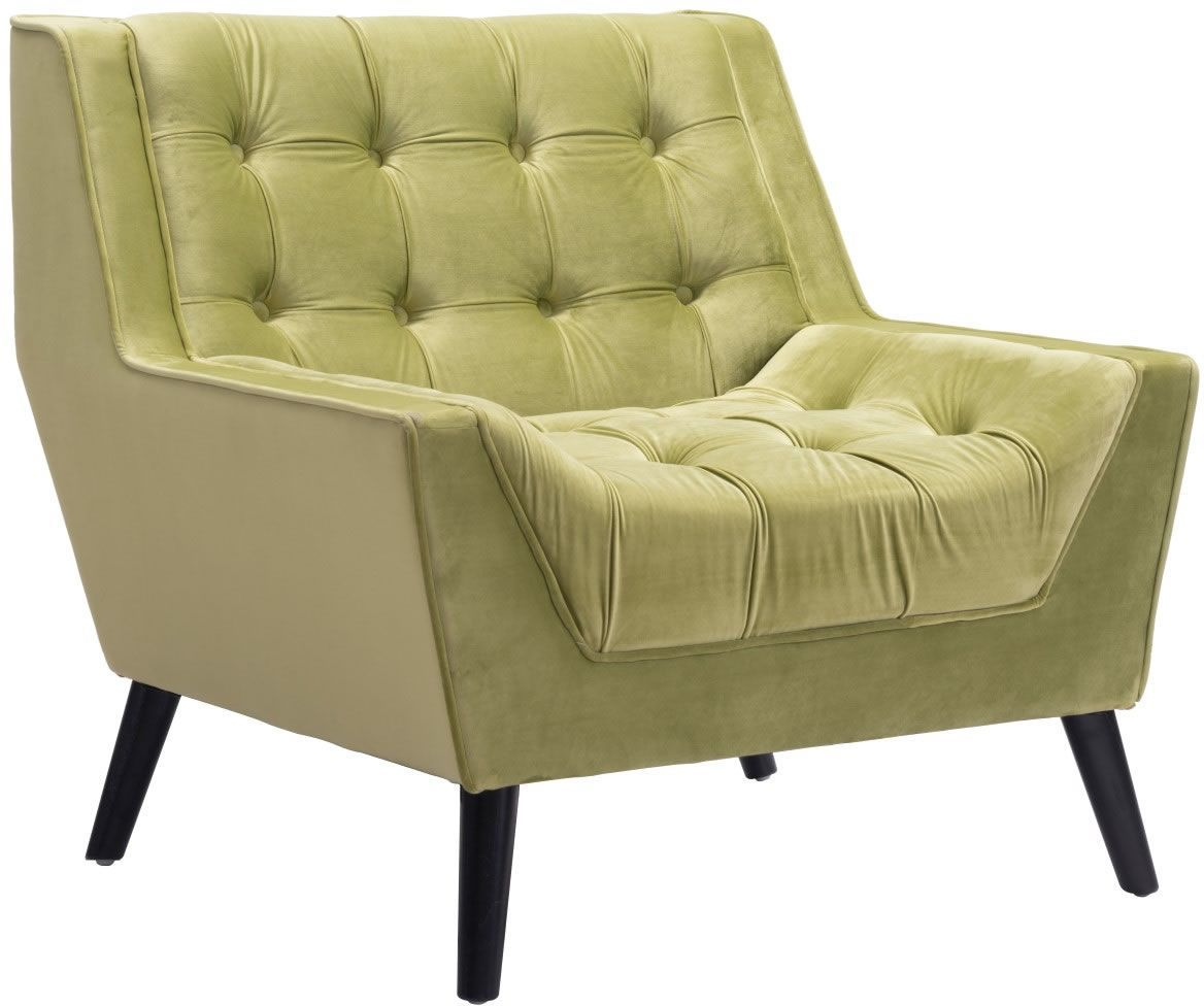 tufted yellow chair banquet covers black zuo modern nantucket arm green velvet disc