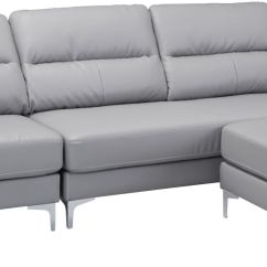 Faux Leather Sofas Canada Sectional With Chaise And Recliner Zuo Modern Versa Gray 100232