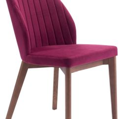 Set Of 2 Dining Chairs Looking For Christmas Chair Covers Zuo Modern Vaz Red Velvet Disc