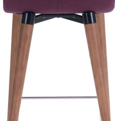 Purple Dining Chairs Canada Armchair Cover Diy Zuo Modern Jericho 26 Quot Counter Chair Set Of 2