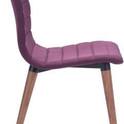 Purple Dining Chairs Canada Chair Cover And Sash Hire Essex Zuo Modern Jericho Set Of 2