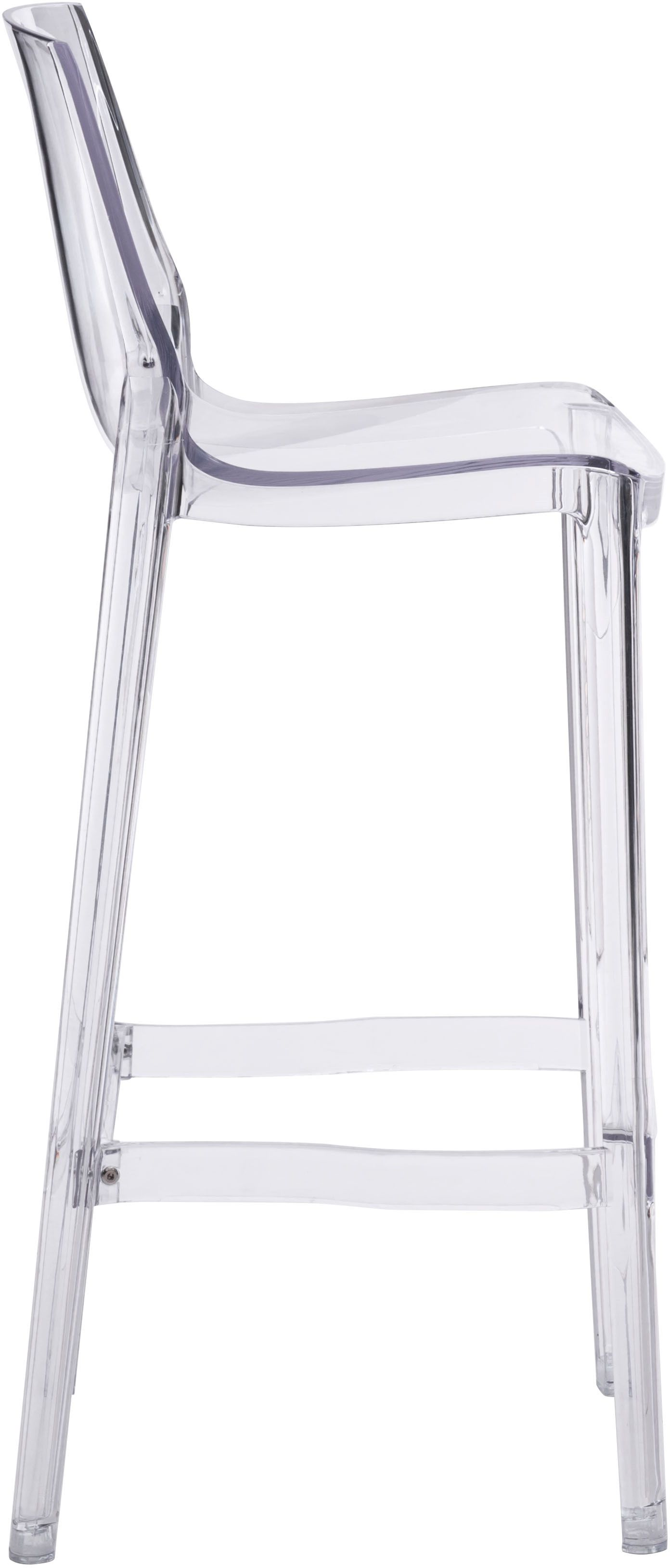 clear dining chairs canada best buy gaming zuo modern phantom 29 5 quot bar chair set of 2