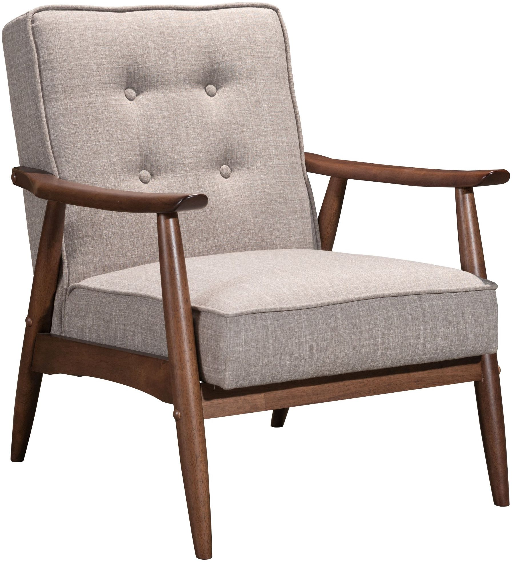grey tufted dining chairs canada gym ball chair zuo modern rocky arm putty 100530