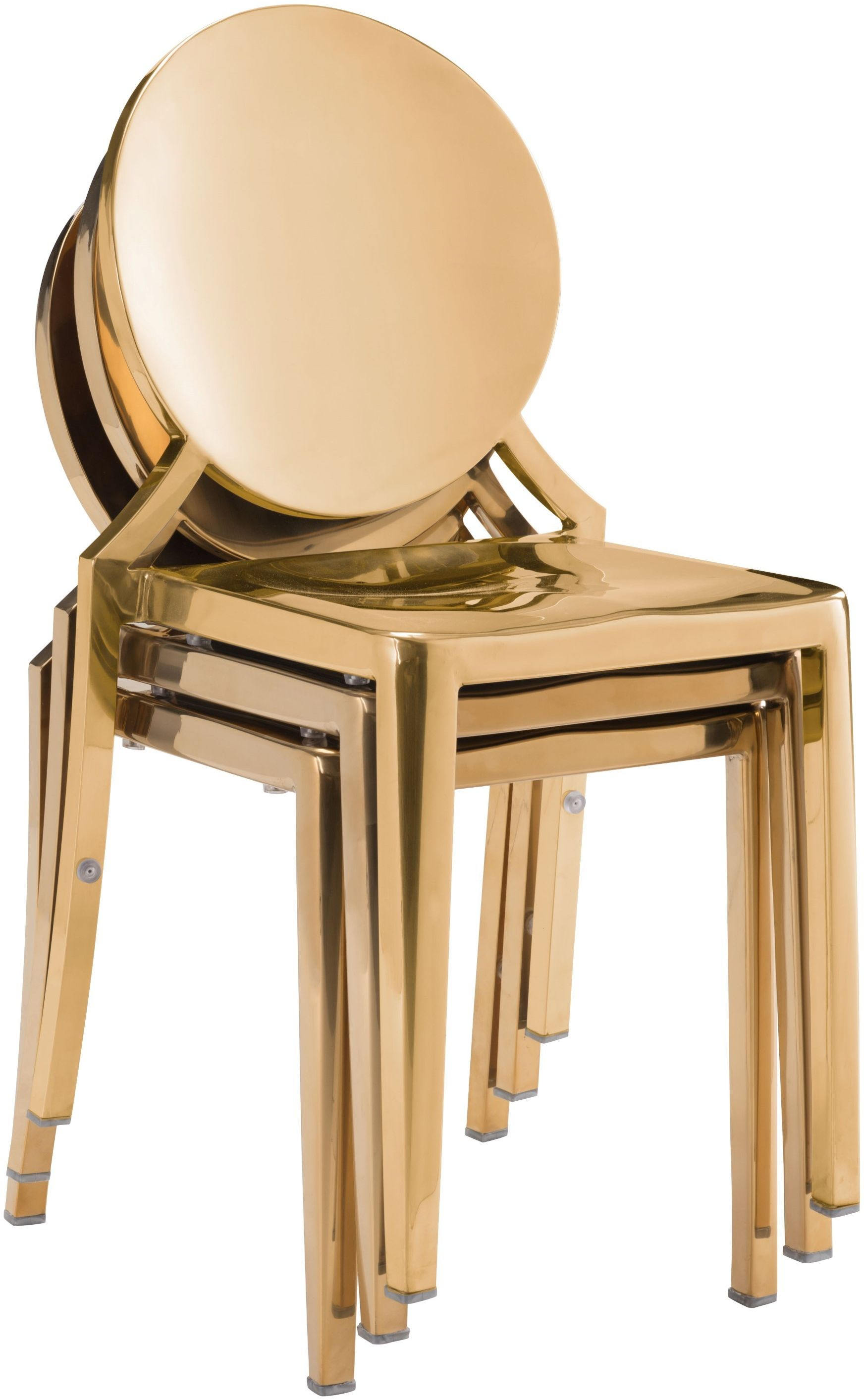 gold dining chairs disability electric zuo modern eclipse chair set of 2 100553