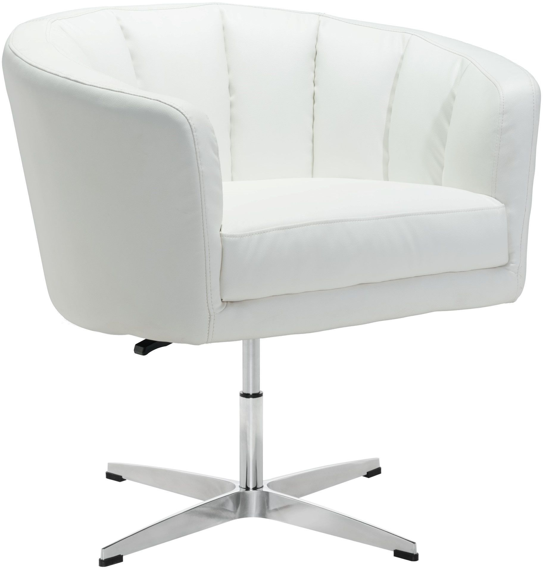 white leather accent chair canada height adjustable zuo modern wilshire occasional black 100768
