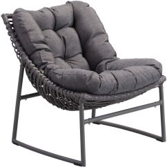 Modern Outdoor Lounge Chair Canada Henriksdal Cover Etsy Zuo Vive Ingonish Beach Grey Disc 703657
