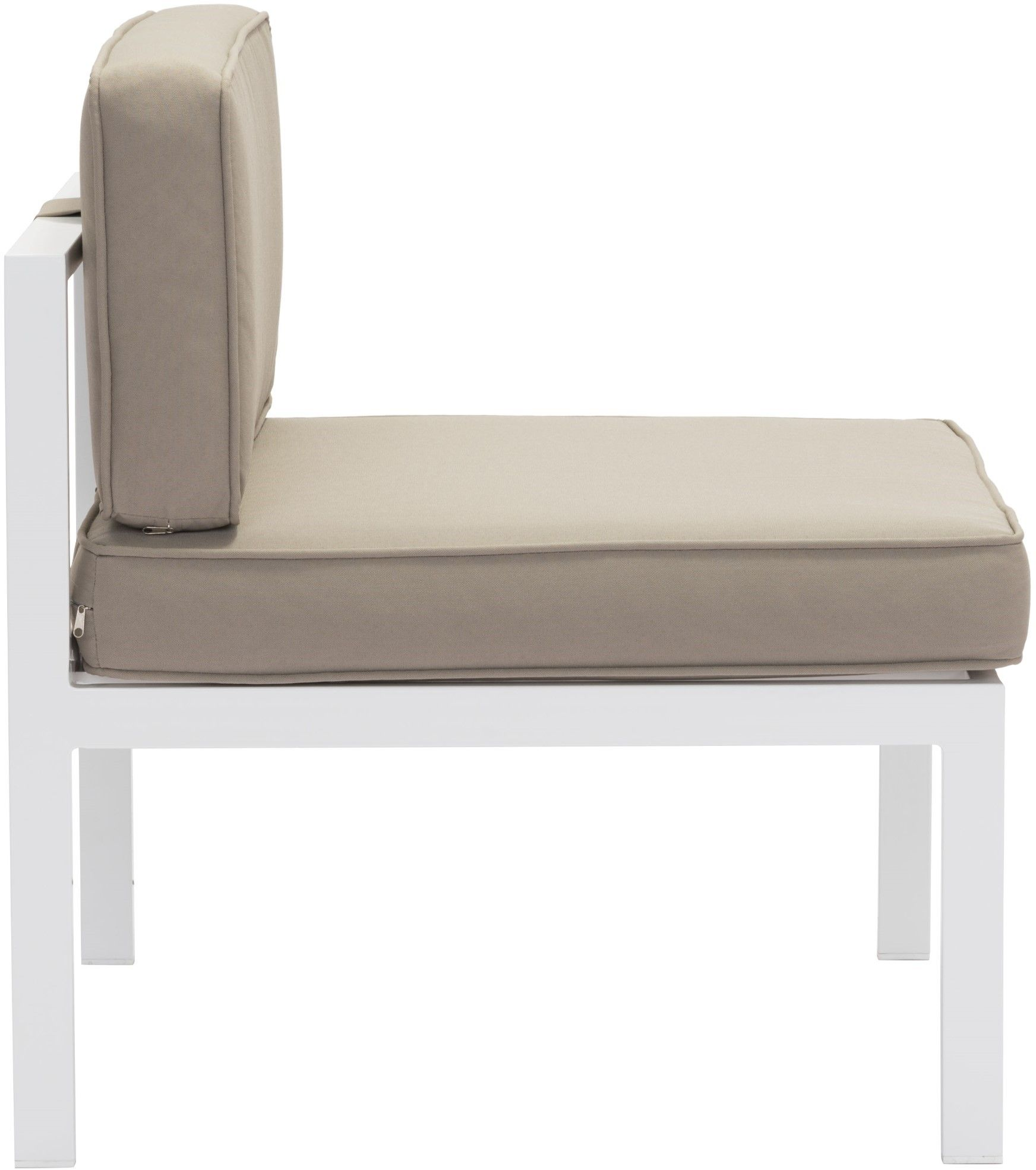 taupe dining chairs canada strong back chair zuo vive outdoor golden beach middle (set of 2 - white & taupe) 703814 | modern ...