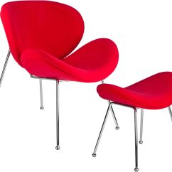 Red Dining Room Chairs Canada Revolving Chair Cylinder Kanto Debaunaire And Ottoman Set Disc Deb