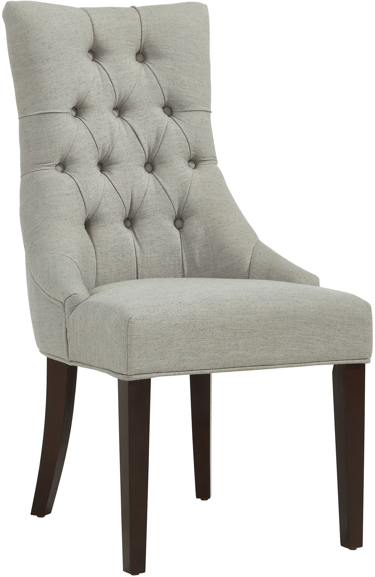 grey tufted dining chairs canada deck rocking chair nspire sinatra accent with coffee legs 403