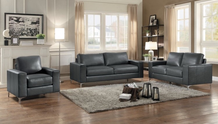 modern sofa sets toronto hancock and moore chesterfield 9449 3pc grey air leather set 现代家私 furniture