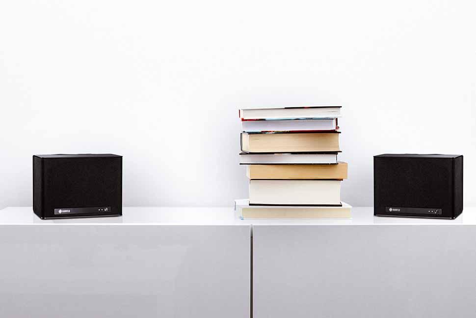 Die Wireless-Lautsprecher Raumfeld One S streamen jetzt auch in Stereo