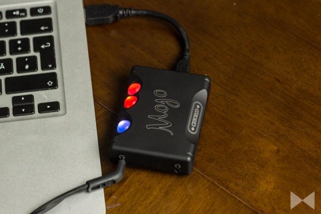 Chord-Mojo-Test am MacBook mit 24 Bit 192 kHz Audiodateien