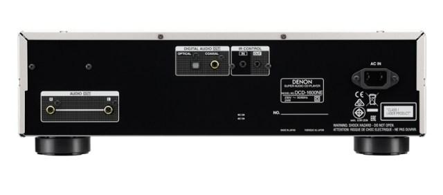 Denon DCD-1600NE Anschlüsse