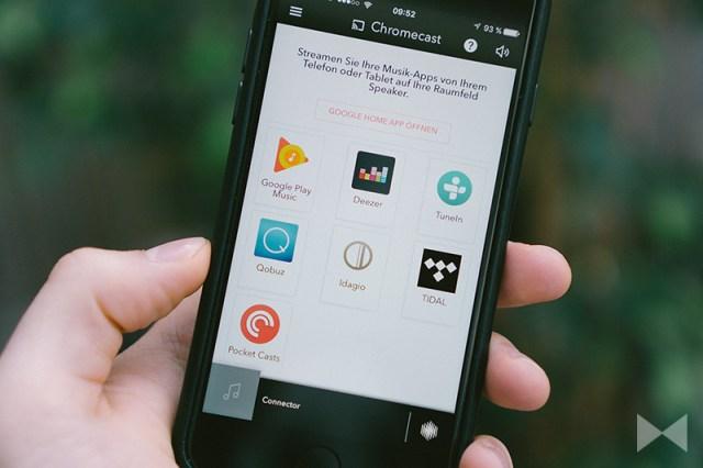 Chromecast built-in – Spotify, Deezer, Juke, TuneIn, Tidal, Qobuz sind mit dabei