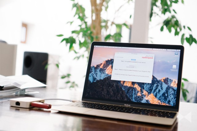 AQ Desktop Manager am Macbook mit Audioquest Dragonfly Red und MQA-Update